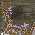 Décoration chambre de bébé : lettres prénom décorées thème papillon