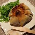 Aumônières croustillantes aux légumes du soleil, tapenade et mozzarella
