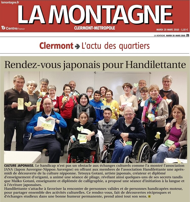 article 20032018 Journal La montagne Handilettante-JANA