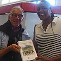 Marie-Jo PEREC et l'auteur des Géants d'<b>Olympie</b>: la rencontre