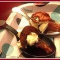 Cuillères jambon, chèvre et tomates séchées
