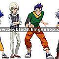 Liste des personnages de la série animée B-Daman Crossfire - List of B-Daman Cross Fight Characters