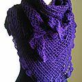 Crochet: châle violet