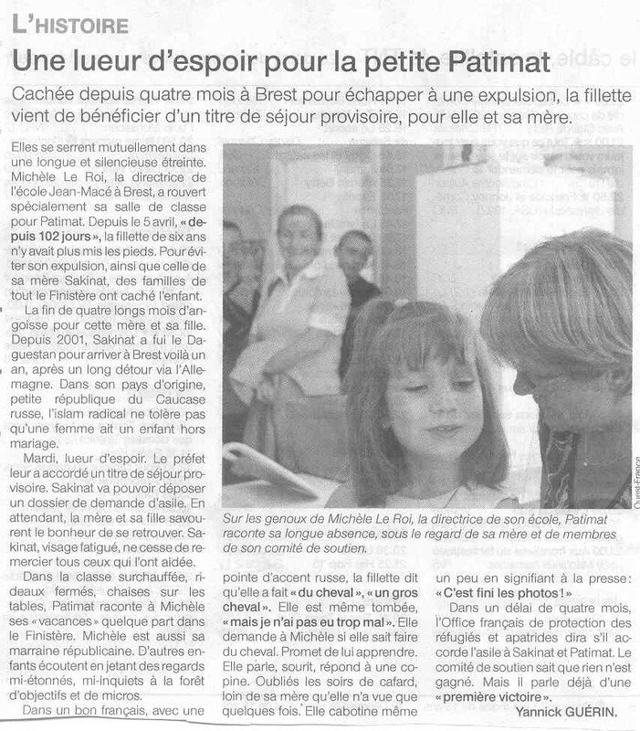 OUEST FRANCE 20-07-06