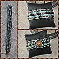Bracelet wrap turquoise et marron