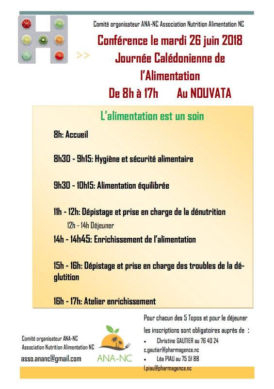Programme JCA 2018