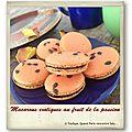 Macarons exotiques au fruits de la passion