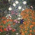 Klimt54 fleur dans un jardin