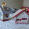 maisons de Noël en feutrine
