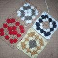 Projet petite couverture avec restes de laine