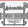 la 16 HP De <b>Dion</b>-<b>Bouton</b> - Fusillade à Belleville - Alcool prohibé dans la marine.