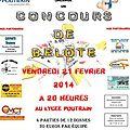 Concours de belote au lycée poutrain