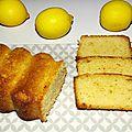 Cake citron, amande, huile d'olive et miel
