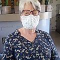 Masque en tissu coronavirus modèle du CHU de Grenoble, <b>Afnor</b>...