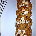 Cookies à la farine de riz chocolat et purée de noisettes (sans gluten sans lait )