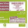 Salon des vignerons indépendants champerret mars 2012