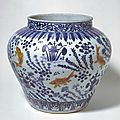Jar with golden red fish, Ming dynasty (1368-1644), Jiajing six-character mark and of the period (1522-1566)
