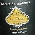 <b>Santal</b> Blanc, Secret de Senteur