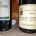 Saint Emilion : Larcis Ducasse 2009, Morey Saint Denis : Jérôme Castagnier : Premier Cru : Aux Cheseaux 2014