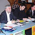 Les représentants des formations politiques lors du débat