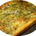 Tarte aux oignons, lardons et parmesan