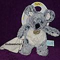 Doudou souris Les <b>flocons</b> Baby nat, gris blanc, petit mouchoir, 22 cm, www.doudoupeluche.fr