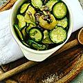 Petite salade de printemps: courgettes, pommes de terre nouvelles & anchois