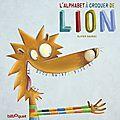 La couverture définitive de l'alphabet à croquer de lion