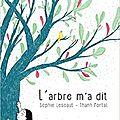 L'arbre m'a dit / sophie lescaut et thanh portal . - editions le grand jardin, 2017