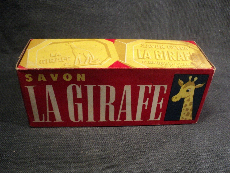 Ancienne Boite Savon La Girafe Complète Vintage Box French Soap