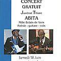 Samedi 18 juin : concert de juvénal thiare abita