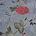 Nappe ou tapis de table, idéal table de jardin <b>140</b> x <b>140</b> cm