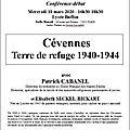 <b>Cévennes</b>, Terre de refuge, 1940-1944