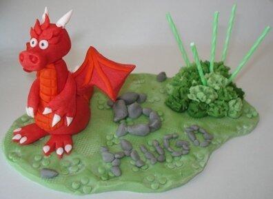 Plaque anniversaire dragon