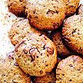 cookies au chocolat et pralin - la cuisine danna purple (1)