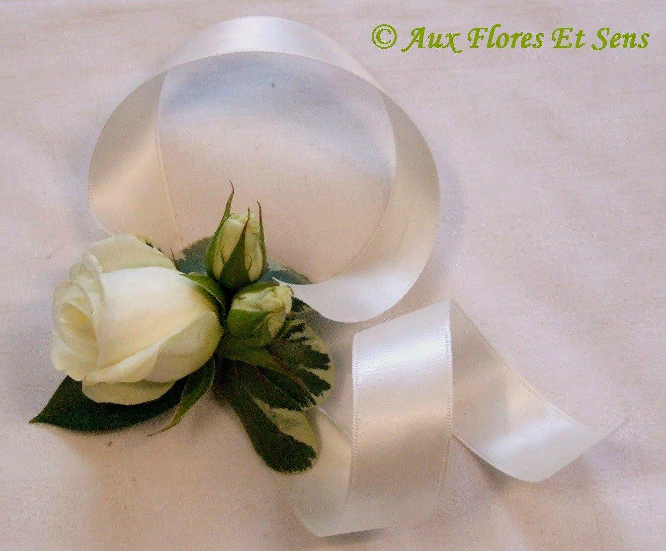 Bracelet Demoiselle d'Honneur Rose & Satin