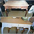 Table en chêne patinée