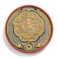 Miroir en bronze et son écrin en laque polychrome sculpté, dynastie qing, époque qianlong (1736-1795)
