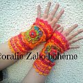 <b>Mitaines</b> <b>femme</b> en laine, <b>mitaines</b> bohème, <b>mitaines</b> originales faite-main disponible *SHOP BOUTIQUE CORALIEZABO ETSY *
