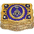 A jewelled gold and enamel presentation box, Charles Colins & Söhne, <b>Hanau</b>, circa 1855