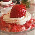 Coupe de fraises biscuitée