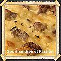 Pizza aux raviolis et aux noix