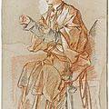 <b>François</b> <b>Boucher</b> (Paris 1703 - 1770), Study of a Young Chinese Woman Seated at the Table