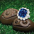 Fine <b>sapphire</b> and diamond ring