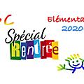 <b>Elémentaire</b> : Rentrée 2020-2021
