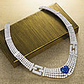 <b>Sapphire</b> <b>and</b> <b>diamond</b> <b>necklace</b>, Cartier