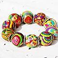 Des bijoux coloré en argile polymère