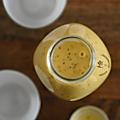 Smoothie mangue, orange, citron, graines de chia & lait coco-amande