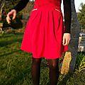 Ma petite robe rouge.