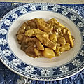 Curry de poulet asiatique